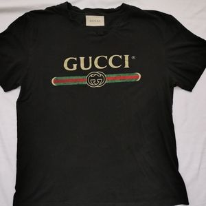 Gucci Washed T shirt with logo